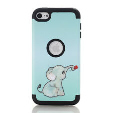 For iPod Touch 6 Case Lovely Elephant Series Full Body 3 In 1 Protective Cover