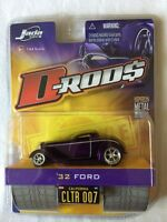 Jada Toys D-Rods '32 1932 Ford Purple 2005 Wave 1 Diecast 1/64 Scale 2005 Wave 1