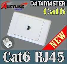1Port Cat6 DATAMASTER Wall Plate +1 RJ45 Cat 6 Jacks