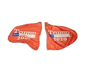 2pcs Rearview Mirror Cover Trump 2020 Keep America Great President Donald MAGA