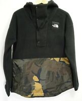 New The North Face Womens Athletic Palms Print Sherpa Fleece Pullover Jacket S