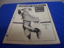 (Drawer 33) Chrysler Marine Drive 90 Models 60 80 Service Repair Manual