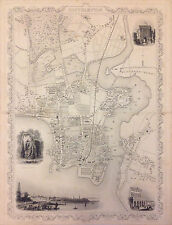1851 Tallis and Rapkin Map of Southampton, England - Original