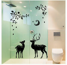 Deer and Moon Wall Sticker Home Decor Removable Art Vinyl Decal Decal Mural DIY