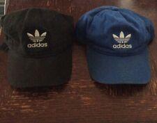 Adidas Dad Hats Blue and Black Mens/unisex