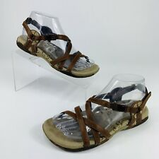 Merrell Womens 6 Sandals San Remo Ankle Strap Adjustable Brown Leather Open Toe