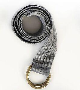 """Military Canvas Web Belt Double D-ring Buckle Men Women Unisex  45""""-48"""" Length"""