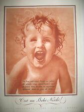 PUBLICITE DE PRESSE NESTLE BéBé DANS LA JOIE DE VIVRE FRENCH AD 1936
