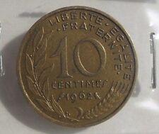 10 centimes marianne 1962 : TTB : pièce de monnaie française