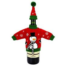 NEW Food Network Snowman Sweater Wine Cover with Hat SUPER CUTE