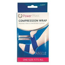 PowerPlast Elasticated Ankle Compression Support Wrap Strap Bandage