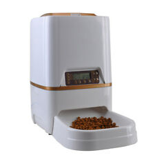6L Automatic Pet Feeder Dry Food Hopper For Dog Cat Auto Dispenser Voice Record