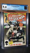 1986 Marvel Comics Amazing Spider-Man #283 CGC 9.4 Spider-Man in Black Suit