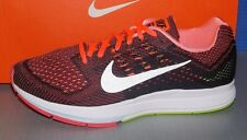 MENS NIKE AIR ZOOM STRUCTURE 18 in colors HOT LAVA / SILVER / VLT / BLK SIZE 8.5