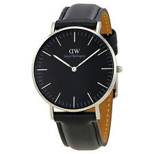 Daniel Wellington Classic Black Sheffield Silver 36mm Watch DW00100145
