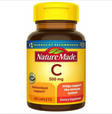 NATURE MADE VITAMIN C 500 MG Immune System Support 100 Caplets NEW EXP 5/2024
