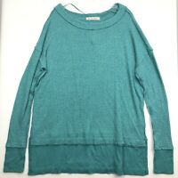 Free People We The Free North Shore Thermal Top Turquoise Sz L OB1013577