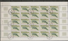 Ivory Coast - M.Sheet of 25 Stamps with Imprint. Süßwasser Manati - Seekuh gest.