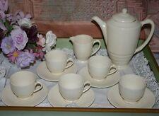 Empire Ware Demi Tasse Coffee Set for Five (12 Pieces) c.1930's - Cream