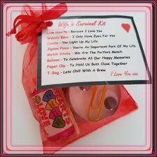 WIFE'S NOVELTY SURVIVAL KIT - Valentines - Birthday -Stocking Filler Gift