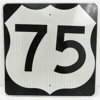 """US Route 75 Metal Highway Sign 24x24"""" Road Street Oil Gas Classic Texas Canada"""