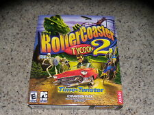 Rollercoaster Tycoon 2 Time Twister Expansion Pack (PC, 2003) Sealed in big box