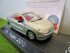 PEUGEOT 206CC COEUR COUPE gris au 1/43 SOLIDO 203229 voiture miniature