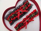 NEW Camouflage Camo Red Black Wedding Garter Prom Hunting Hunter Army Gun