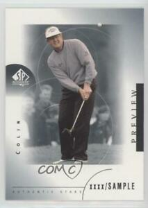 2001 SP Authentic Preview Sample Colin Montgomerie #34 Rookie