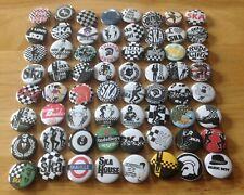 Ska, 2-Tone, Skinheads, Rude Boys, Scooter Club Button Badges X64