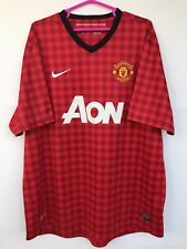 MANCHESTER UNITED 2012 2013 NIKE HOME FOOTBALL SOCCER SHIRT JERSEY RED