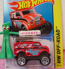 Case K 2014 Hot Wheels MONSTER DAIRY DELIVERY #122 US∞Red;Stars/Stripes∞Off-Road
