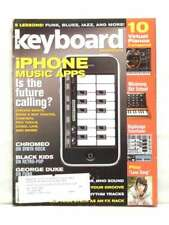 KEYBOARD MAGAZINE IPHONE MUSIC APPS SYNTH ROCK RARE '08