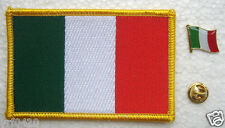 Italy National Flag Pin and Patch Embroidery