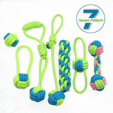 7pcs Aggressive Chew Toys for Dogs Indestructible Braid Cotton Rope Pet Tug Ball