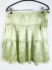Banana Republic Sz 0 Light Green Silk Ruffle Skirt