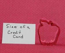 Apple,Small Red Delicious, Metal Cookie Cutter, 2.5 Inches,C/K,Garden,PR1140Z,