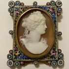 Vintage Micro Mosaic Floral Cameo Picture Frame