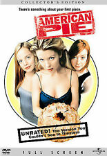 American Pie (DVD, 2007, Full Frame - Unrated, Collector's Edition) NEW