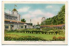 Crystal Ballroom Ferris Wheel Crystal Beach Ontario Canada 1958 postcard