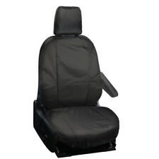 SINGLE FORD TRANSIT CUSTOM 2013 ON FULLY TAILORED VAN DRIVER SEAT COVERS BLACK
