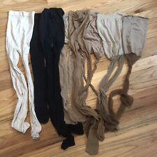 Lot Of 8 Stockings Tights Pantyhose Hosiery Socks