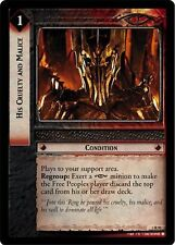 LoTR TCG Realms of the Elf Lords His Cruelty And Malice FOIL 3R91
