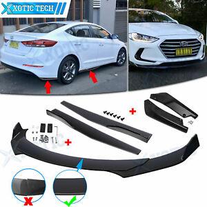 7x Front Rear Bumper Lip Spoiler Splitter Side Skirt For Hyundai Elantra Accent