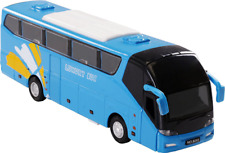 7 Inch Die Cast Toy Bus with Light and Pull-Back Function - Elegant Blue Color (