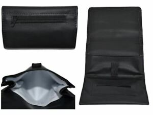 Shine Leather Tobacco Pouch Soft PU Wallet Purse Holder Black Great Quality