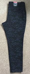 Ladies M&S Size 18 Short Sculpt & Lift Pull on Navy Mix Leggings Free Post