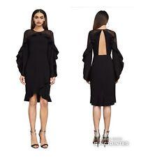 BCBG MAXAZRIA Black Cocktail Dress Ruffled Lace Layered 6 Formal Attire 228