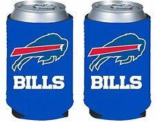 2 BUFFALO BILLS BEER SODA WATER CAN KADDY KOOZIE HOLDER NFL FOOTBALL
