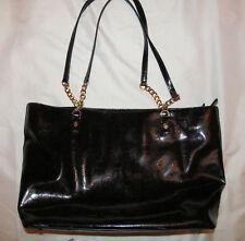 MICHEAL KORS JET SET MK monogram patent leather tote chain accents shoulder bag